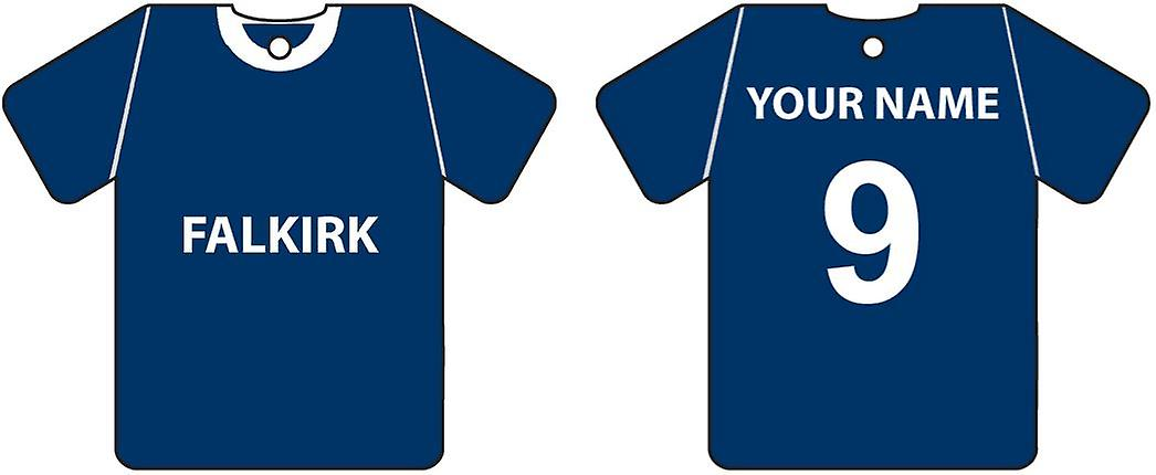 Personalised Falkirk Football Shirt Car Air Freshener