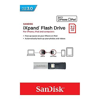 SanDisk 32GB IXpand USB 3.0 Mobile Flash Drive. - SDIX30C-032G-GN6NN