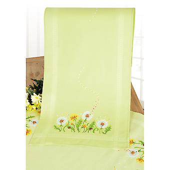 Dandelions Table Runner On Aida Counted Cross Stitch Kit-10.5