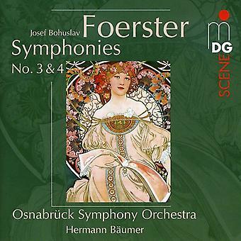 J.B. Foerster - Josef Bohuslav Foerster: Symphonies Nos. 3 & 4 [CD] USA import