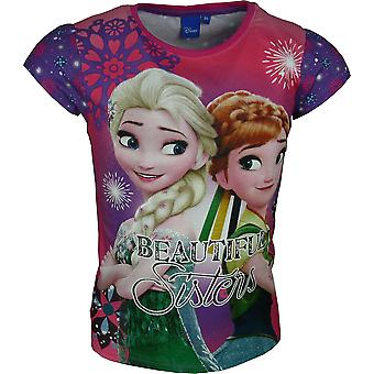 Girls Disney Frozen Short Sleeve T-Shirt