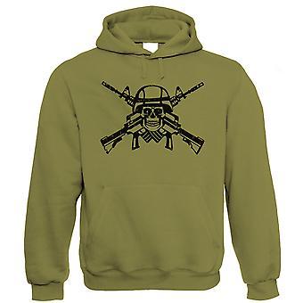 Vectorbomb, Shooter Schädel & Crossbones Hoodie (S bis 5XL)