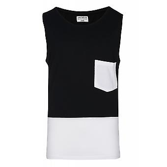JUNK YARD Christer block 1 shirt mens tank top black with chest pocket