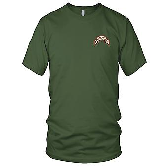 US Army - 25th LRS Infantry Desert Embroidered Patch - Ladies T Shirt