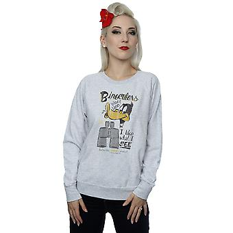 Looney Tunes Women's Daffy Duck Binoculars Sweatshirt