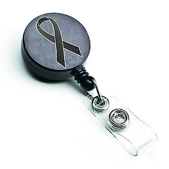 Zwarte lint voor melanoom kanker bewustzijn intrekbare Badge Reel