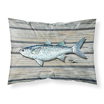 Estándar de tela wicking Carolines tesoros 8490PILLOWCASE pescado salmonete humedad