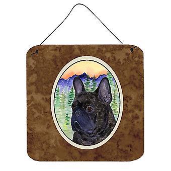 Carolines Treasures  SS8257DS66 French Bulldog Aluminium Metal Wall or Door Hang