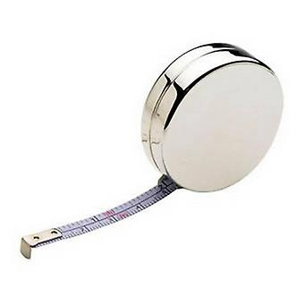 David Van Hagen Silver Plated Tape Measure - Silver