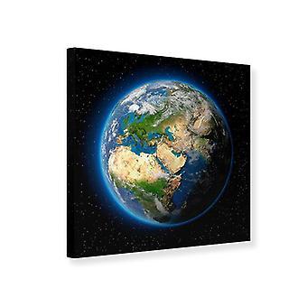 Lærred Udskriv jorden som en Planet