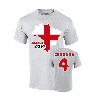 England 2014 land Flag T-shirt (gerrard 4)