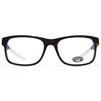Animal Hariss Rectangle Acetate Glasses In Tortoiseshell On Blue