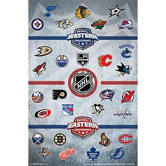 NHL&reg - Logos 14 Poster Print