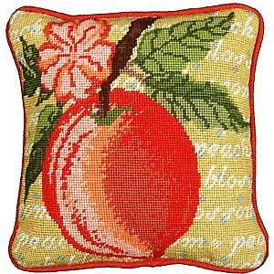 Peach Blossom Needlepoint Canvas