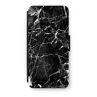 iPhone 5C Flip Case - Black Marble 2