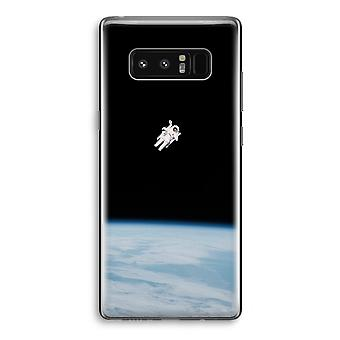 Samsung Galaxy Note 8 Transparant Case - Alone in Space
