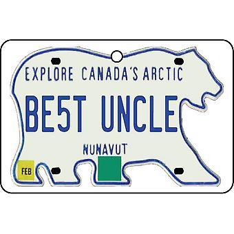 NUNAVUT - Best Uncle License Plate Car Air Freshener