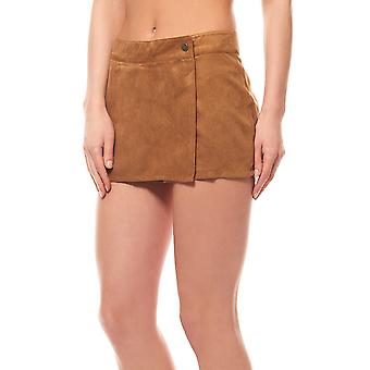 Aniston of Shorts Pants women's suede leather Brown