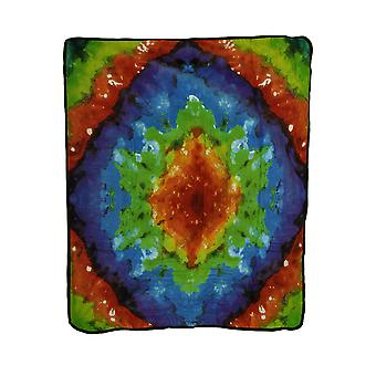 Super Soft Tie Dye Pattern Fleece  50 X 60 Inch Throw Blanket