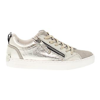 Crime London women's 25233KS126 Silver/Gold leather of sneakers