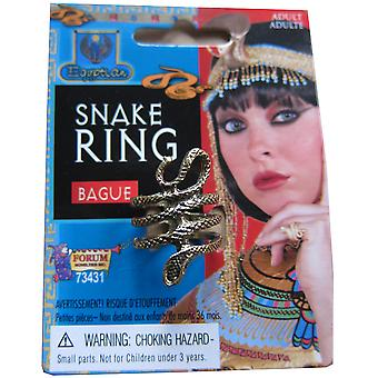 Egyptian Queen of Nile Cleopatra Women Costume Gold Snake Ring