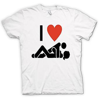 Womens T-shirt - I Love Heart Sex - Funny