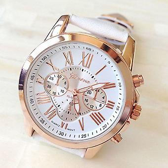 Adult Ladies Childrens Kids Girls Analogue Sport Smart Rose Gold Watch White UK Seller