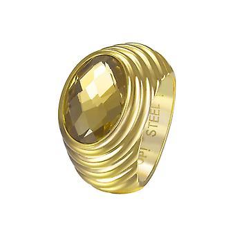 Йоп женщин кольцо из нержавеющей стали золото Селена JPRG10624B1
