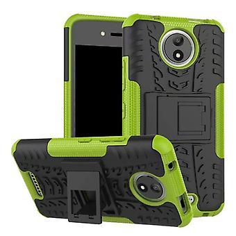 Hybrid Case 2teilig Outdoor Grün für Motorola Moto C Plus Tasche Hülle Cover