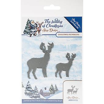 Find It Trading Amy Design The Feeling Of Christmas Die-Christmas Reindeers