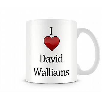 David Walliams imprimé J'aime la tasse