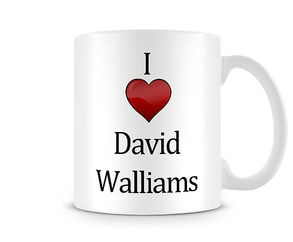 Amo la tazza stampata David Walliams