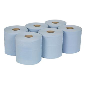 Sealey Blu150 Paper Roll Blue 2-Ply Embossed 150Mtr Pack Of 6