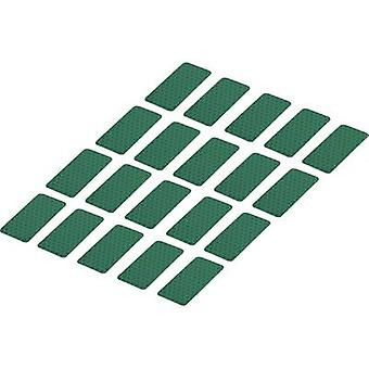 Conrad Components 1282804 Adhesive strips RTS Green (L x W) 50 mm x 25 mm 20 pc(s)