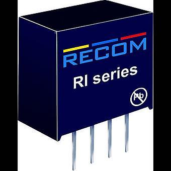 RECOM RI-0505S/P DC/DC converter (print) 5 Vdc 5 Vdc 400 mA 2 W No. of outputs: 1 x
