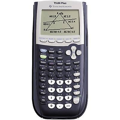 Texas Instruments TI-84 PLUS Calculatrice graphique noir, gris à piles (W x H x D) 89 x 27 x 192 mm