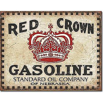 Red Crown- Checker Board Metal Sign