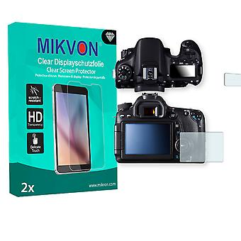 Canon EOS 70D Screen Protector - Mikvon Clear (Retail Package with accessories)