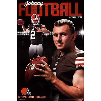 Cleveland Browns - Johnny Manziel 2014 Poster Poster Print