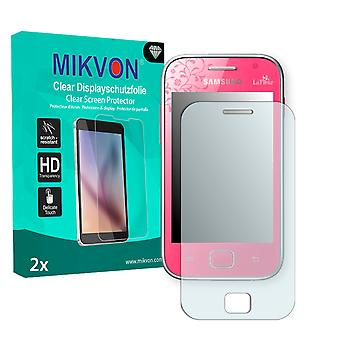 Samsung S6802 Galaxy Ace Duos La Fleur Edition Screen Protector - Mikvon Clear (Retail Package with accessories)