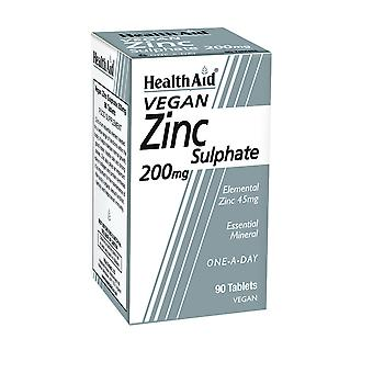 Health Aid Zinc Sulphate 200mg (45mg elemental Zinc) ,  90 Tablets