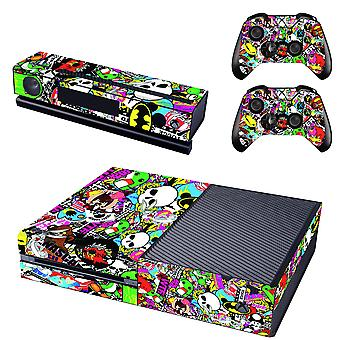 REYTID Graffiti Xbox One Console huid / Sticker + 2 x Controller Decals & Kinect wikkel - volledige Set - Microsoft XB1
