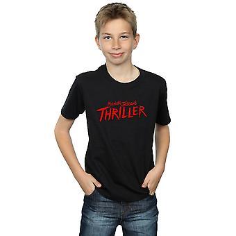 Michael Jackson gutter Thriller Logo t-skjorte