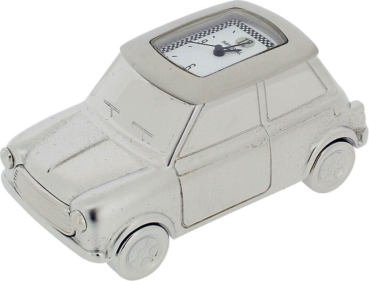 Gift Time Products Mini voiture Miniature Clock - argent