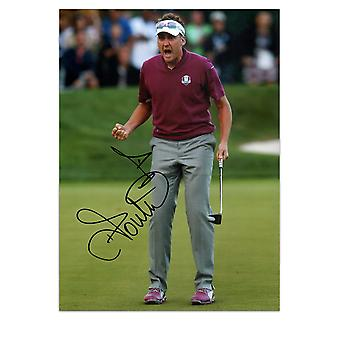 Ian Poulter Signed Photo: Birdie On The 16th