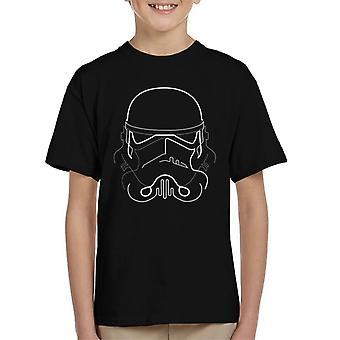 T-shirt original Stormtrooper linha silhueta de arte infantil