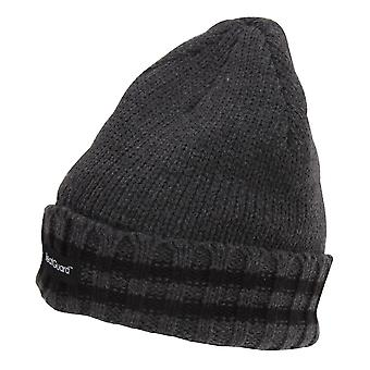 Mens 3M Thinsulate Beanie With Striped Trim