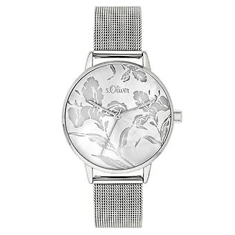 s.Oliver women's watch wristwatch stainless steel SO-3639-MQ