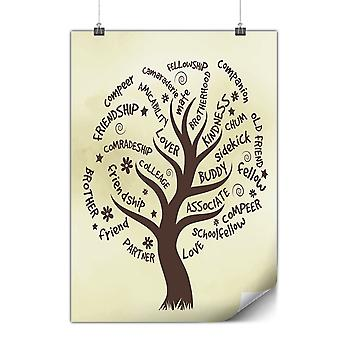 Matte or Glossy Poster with Tree Friend Life | Wellcoda | *y1946