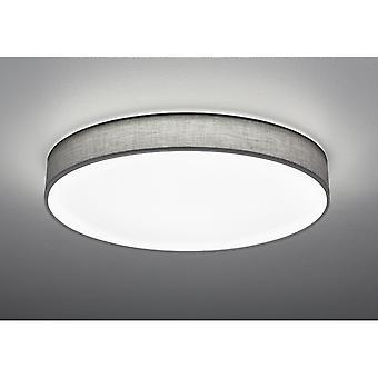 Trio Lighting Lugano Modern Grey Fabric Ceiling Lamp